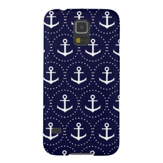 Navy anchor circle pattern galaxy s5 cases