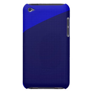 Navy and Blue Digital Minimalism Art Barely There iPod Cases
