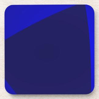 Navy and Blue Digital Minimalism Art Beverage Coasters