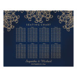 Navy and Gold Indian Inspired Seating Chart