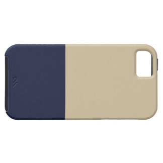 Navy and Gold iPhone 5 Case