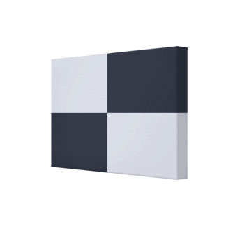Navy and Grey Rectangles Canvas Print