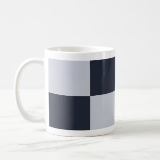 Navy and Grey Rectangles Mugs