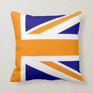 Navy and Orange Union Jack Half Cushion