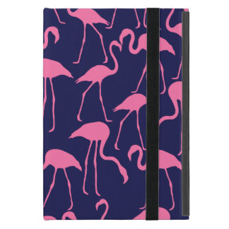 Navy and Pink Flamingo Pattern Case For iPad Mini