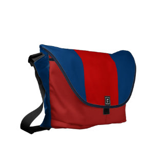 Navy and Red Commuter Bag