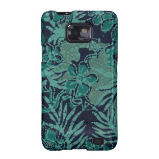 Navy and Turquoise Batik Pattern Galaxy S2 Case