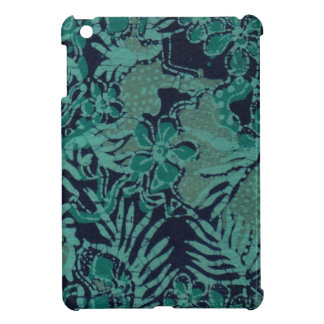 Navy and Turquoise Batik Pattern Cover For The iPad Mini
