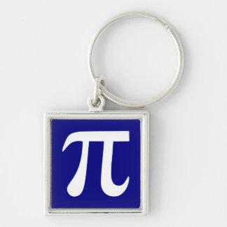 Navy and White Pi Symbol Key Ring
