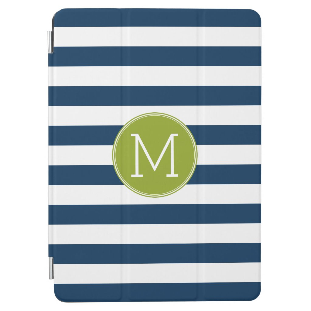 Navy Monogram iPad Case