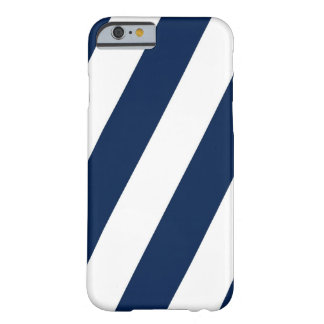 Navy and White Stripes Barely There iPhone 6 Case