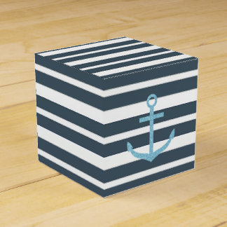 Navy and White Stripes Favour Box