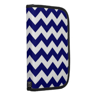 Navy and White Zigzag Folio Planners