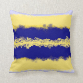 navy and yellow abstract ombre cushion