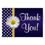 Navy and Yellow daisy Thank you card