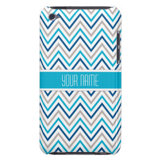 Navy Aqua Grey Chevron Cases
