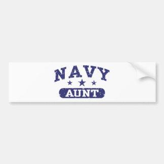 Navy Aunt Bumper Sticker