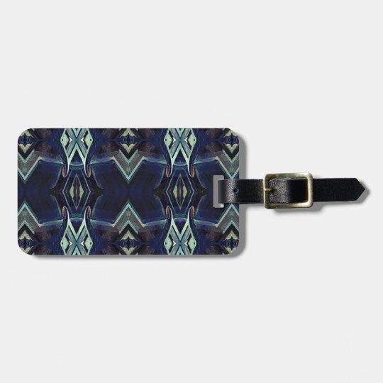 Navy Black Grey Hip Masculine Pattern Bag Tag