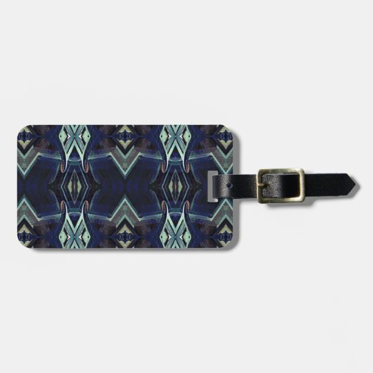 Navy Black Grey Hip Masculine Pattern Luggage Tag