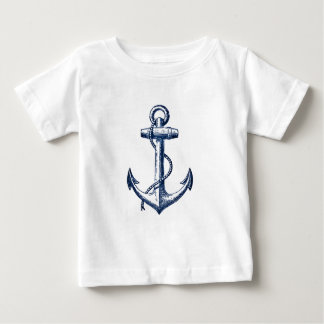 Navy Blue Anchor Baby T-Shirt