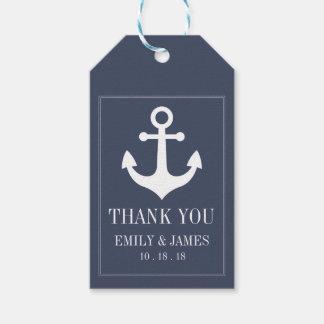 Navy Blue Anchor By The Sea Wedding Thank You