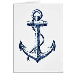 Navy Blue Anchor Card