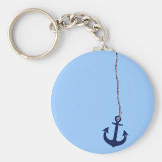 navy blue anchor key ring