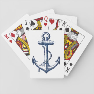 Navy Blue Anchor Playing Cards