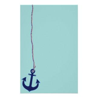 navy blue anchor stationery