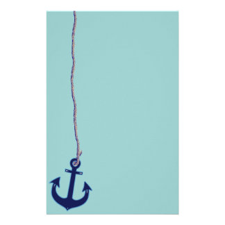 navy blue anchor stationery design