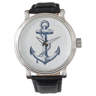 Navy Blue Anchor Watch