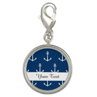 Navy Blue Anchors Pattern 1 Bracelet
