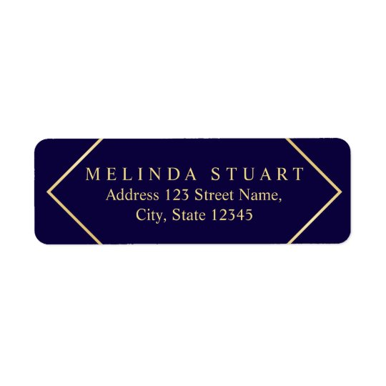 Navy Blue and Faux Gold Foil Elegant