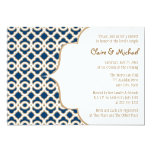 Navy Blue and Gold Moroccan Couples Wedding Shower