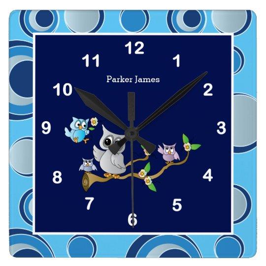 Navy Blue and Grey Baby Owl Nursery Design