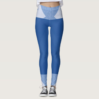 Navy blue and lines leggings