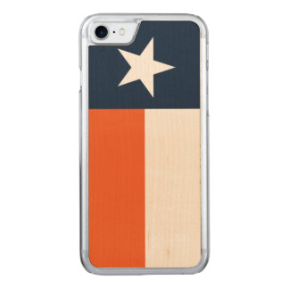 Navy Blue and Orange Carved iPhone 8/7 Case