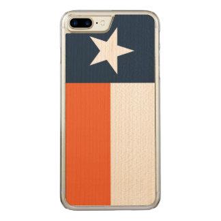 Navy Blue and Orange Carved iPhone 8 Plus/7 Plus Case