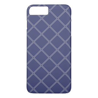 Navy Blue and Silver Geometric Diamond Outlines iPhone 8 Plus/7 Plus Case