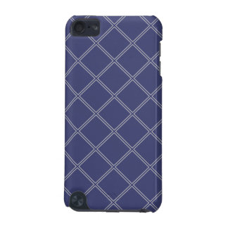 Navy Blue and Silver Geometric Diamond Outlines iPod Touch (5th Generation) Cover