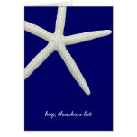 Navy Blue and White Best Man Thank You Cards