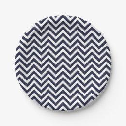 Chevron Polka Dot Party Supplies City  sc 1 st  10000+ Best Deskripsi Plate 2018 & Dark Blue Chevron Paper Plates - Best Plate 2018