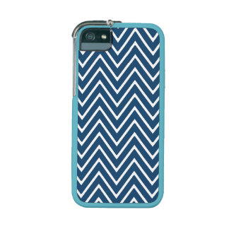 Navy Blue and White Chevron Pattern 2 iPhone 5/5S Case