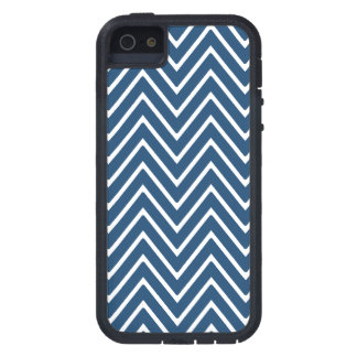 Navy Blue and White Chevron Pattern 2 Cover For iPhone 5