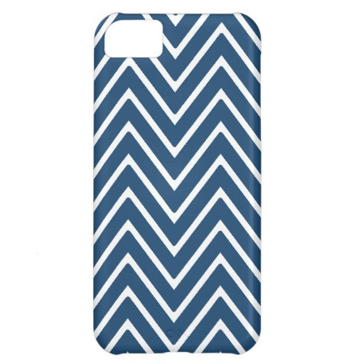 Navy Blue and White Chevron Pattern 2 Cover For iPhone 5C