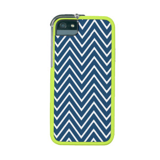 Navy Blue and White Chevron Pattern 2 Case For iPhone 5