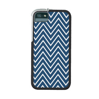 Navy Blue and White Chevron Pattern 2 iPhone 5/5S Cover