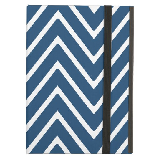 Navy Blue and White Chevron Pattern 2 iPad Air Cover