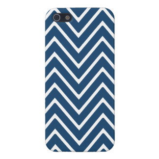 Navy Blue and White Chevron Pattern 2 iPhone 5 Cover