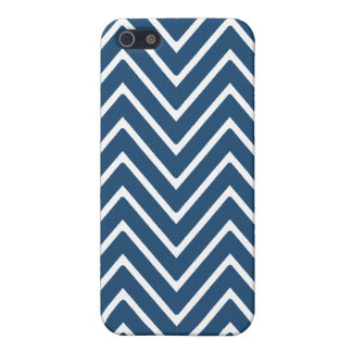 Navy Blue and White Chevron Pattern 2 iPhone 5 Covers